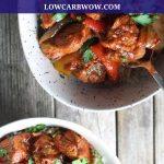 Two bowls of harissa chicken