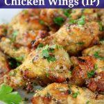 Garlic Parmesan wings on plate