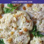 plate of roasted cauliflower
