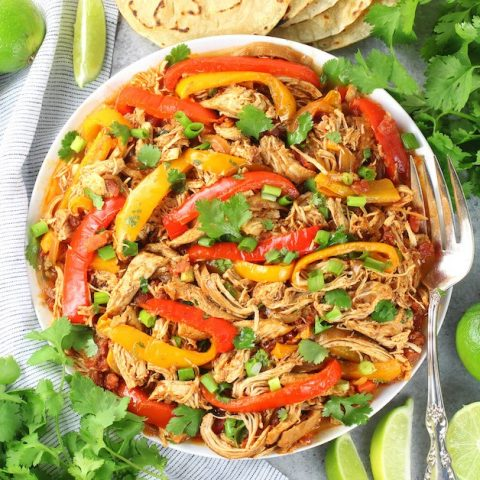 low carb crockpot chicken fajitas