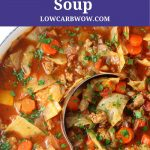 pot of low carb cabbage roll soup